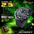 小型カメラ 腕時計型カメラ 防犯カメラ スパイダーズX (W-707)