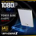 充電器型カメラ モバイルバッテリー 小型カメラ スパイダーズX (A-609S) メタリックシルバー スパイカメラ 1080P 64GB対応