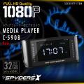 小型カメラ メディアプレーヤー型カメラ 防犯カメラ スパイダーズX (C-590B) ブラック