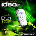 スパイダーズX 小型カメラ キーレス型カメラ ホワイト 防犯カメラ 1080P 録音機能 スパイカメラ A-206W
