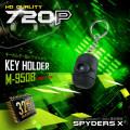 スパイダーズX 小型カメラ キーホルダー型カメラ ブラック 防犯カメラ 720P 32GB内蔵 スパイカメラ M-950B