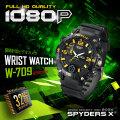 スパイダーズX 小型カメラ 腕時計型カメラ 防犯カメラ スパイカメラ W-709