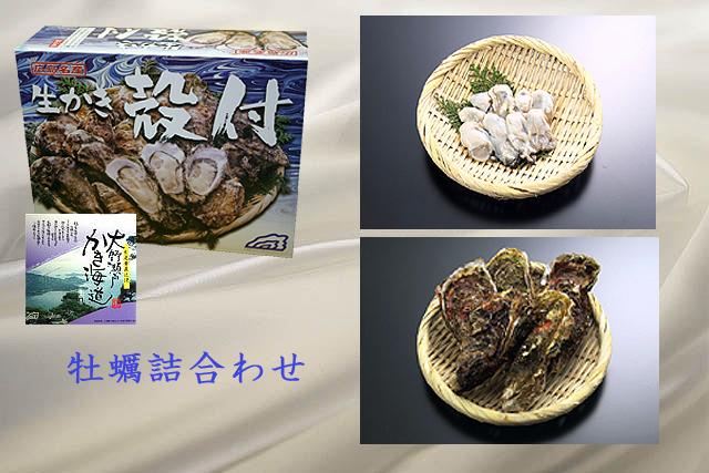 牡蠣詰合せ 生牡蠣1kg殻付牡蠣20ヶ (加熱調理用)