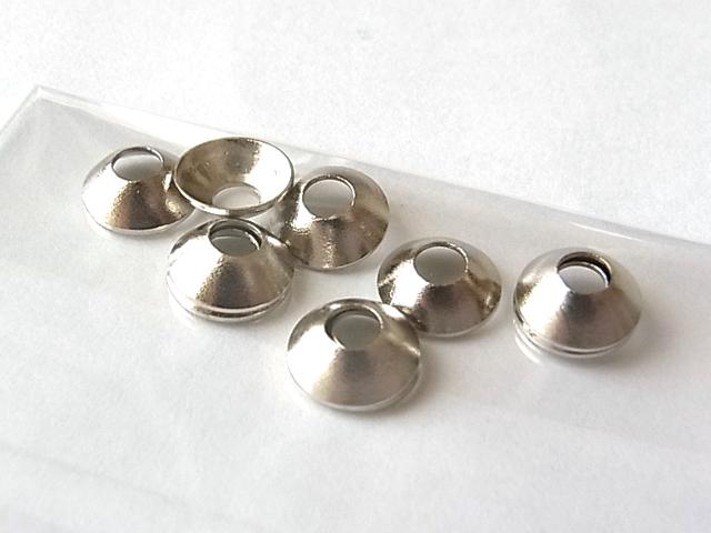 日本の部品屋 「カップワッシャー 6.5×2.3H×2.6 ブラス製 シルバー」