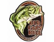 BassProShops バスプロショップス 「Open Road Old Guys Rule バス 看板」