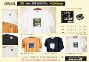 ★ご予約商品★ レスイズモア 「5.6oz BOX LOG Tee」 【クリックポスト発送可】 ※8月上旬頃発売予定