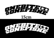 OBOF ワンバイトワンフィッシュ 「カッティングステッカー アーチロゴ 15cm」