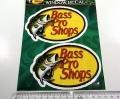 BassProShops バスプロショップス 「ダイカットビニールウィンドウデカール Sサイズ」