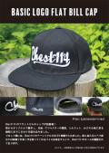 ★ご予約商品★ チェスト114 「Basic Logo Flat Bill CAP」 ※納期未定