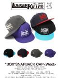 """★ご予約商品★ ランカーキラー 「""""BOX""""SNAPBACK CAP<Wool>」 <2/24(日)まで> 2月下旬入荷予定"""