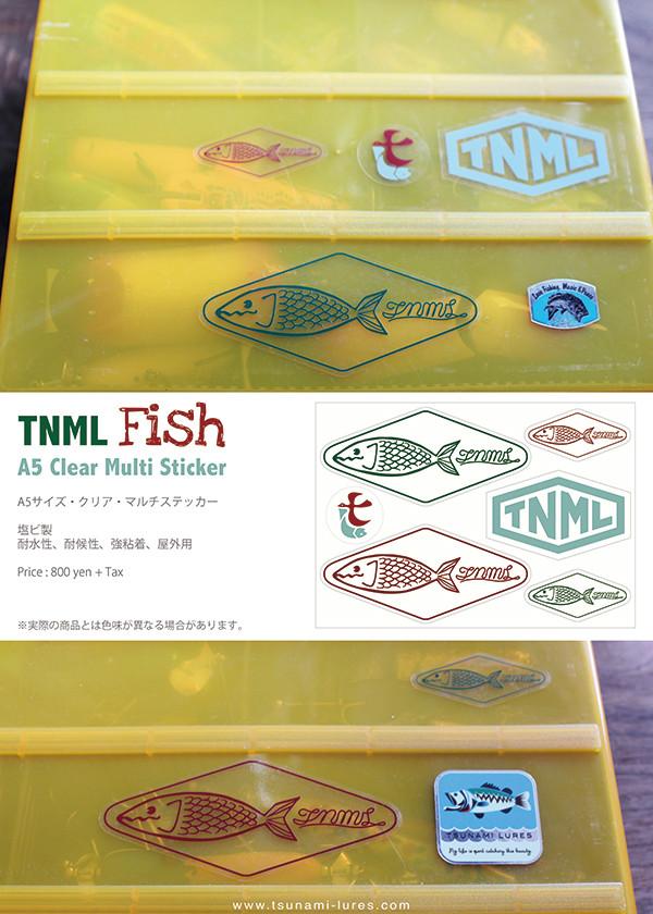 ★ご予約商品★ 津波ルアーズ 「TNML Fish – A5 Clear Multi Sticker」 【クリックポスト発送可】 ※7月中旬頃発売予定