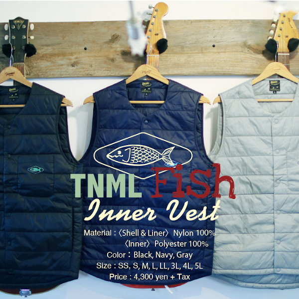★ご予約商品★ 津波ルアーズ 「TNML Fish - Inner Vest」 ※12月中旬頃入荷予定