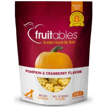 [fruitables:フルータブル] パンプキン&クランベリー ベイクドビスケット 犬用おやつ 小麦粉不使用