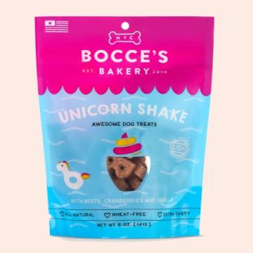 [ボッチェーズベーカリー] ユニコーンシェイク 期間限定ビスケット 141g 小麦粉不使用 ドッグトリーツ