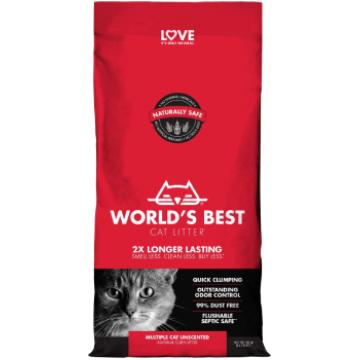 [ワールドベストキャットリター(猫砂)] マルチプルキャット 3kg/6kg 多頭飼育向け/無香/トイレに流せる/ナチュラル原料で安心・安全