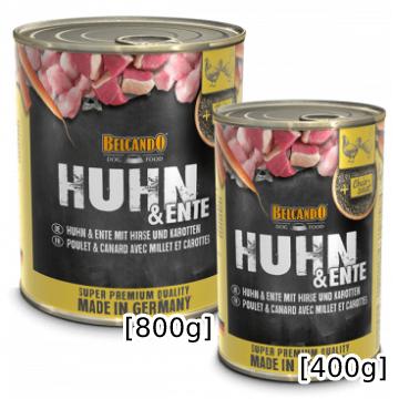 [ベルカンド] チキン&カモ 缶詰 400g/800g ドイツ産 モイストフード