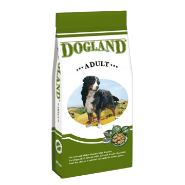 [DOG LAND:ドッグランド] アダルト 中型・大型成犬用(大粒) 15Kg ドイツ産 ブリーダーパック 無添加ドックフード
