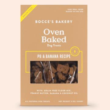 [ボッチェーズベーカリー] ピーナッツバター&バナナ グレインフリー(穀物不使用)ビスケット 340g ドッグトリーツ