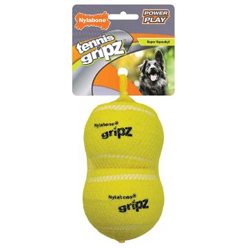 [Nylabone:ナイラボーン] パワープレイドック テニスボールLサイズ 2pk 犬用おもちゃ ストレス発散