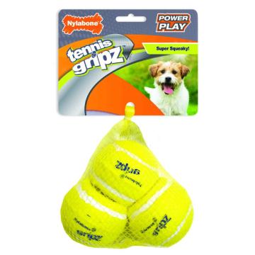 [Nylabone:ナイラボーン] パワープレイドック テニスボールSサイズ 3PK 犬用おもちゃ ストレス発散