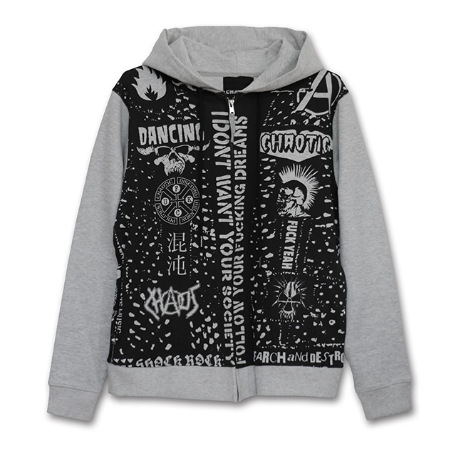 STUDED ZIP HOODY