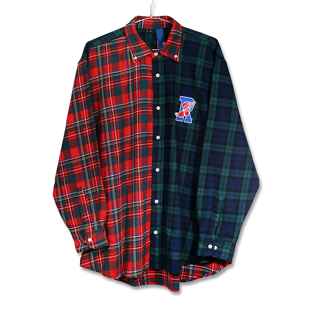 R-WING BB L/S CHECK MULTI SHIRTS