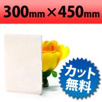 塩ビ板 片面つや消しホワイト 300×450mm 厚み3mm
