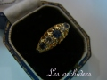 antique victorian sapphire diamond ring