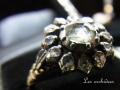 ダッチローズカットダイヤモンド クラスターリング