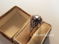 antique rose cut brown diamond ring