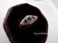 英国アンティーク サファイアとダイヤモンドリング