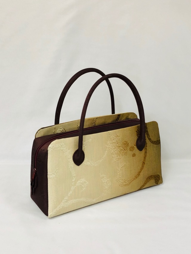 アウトレット販売商品 50%OFF  限定1個 高級帯地使用利休バッグ中型