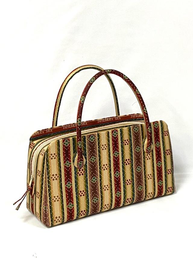 アウトレット価格 限定1個 龍村美術織物裂地使用 No.421 利休バッグ中型