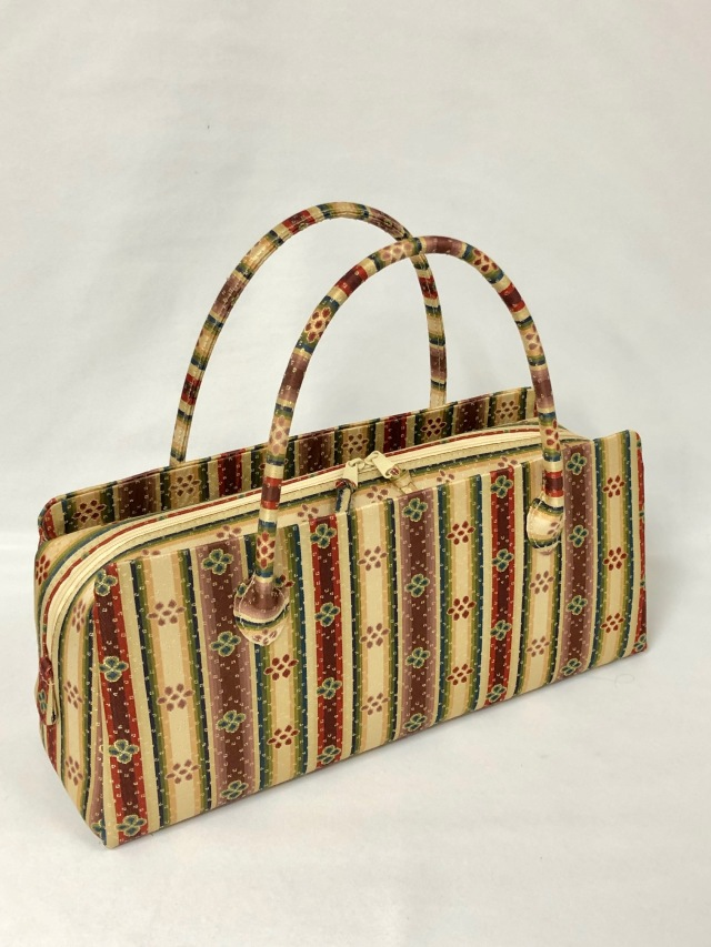 アウトレット販売商品  お年玉価格 限定1個 龍村美術織物裂地使用 No.425 利休バッグ横長型