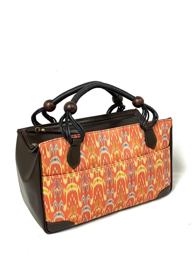 アウトレット価格 限定1個 龍村美術織物裂地使用 No.702 Wファスナーバッグ