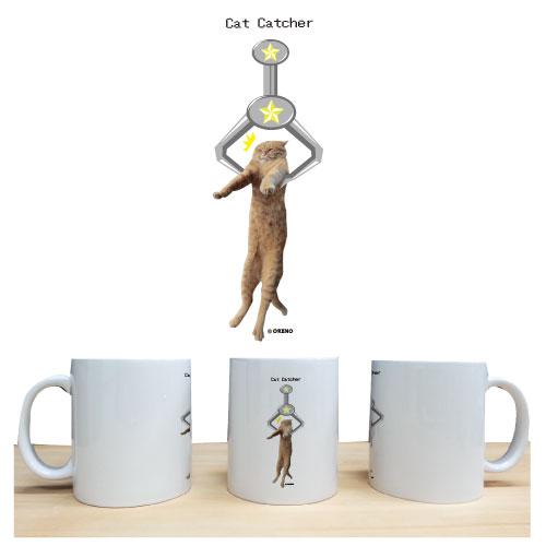 マグカップ「キャットキャッチャー」猫柄
