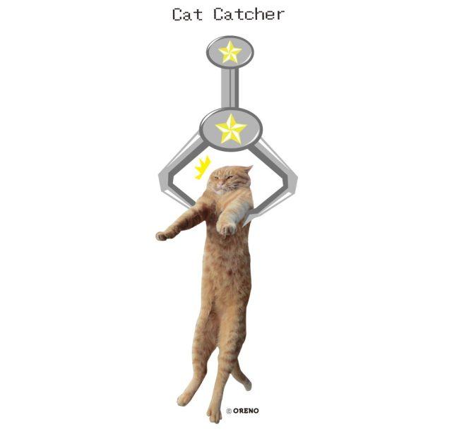 実写猫柄Tシャツキャットキャッチャー拡大