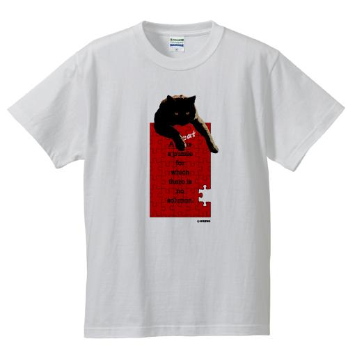 猫パズルTシャツ