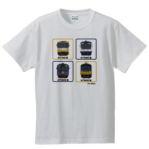 のと鉄道正面4柄半袖Tシャツ