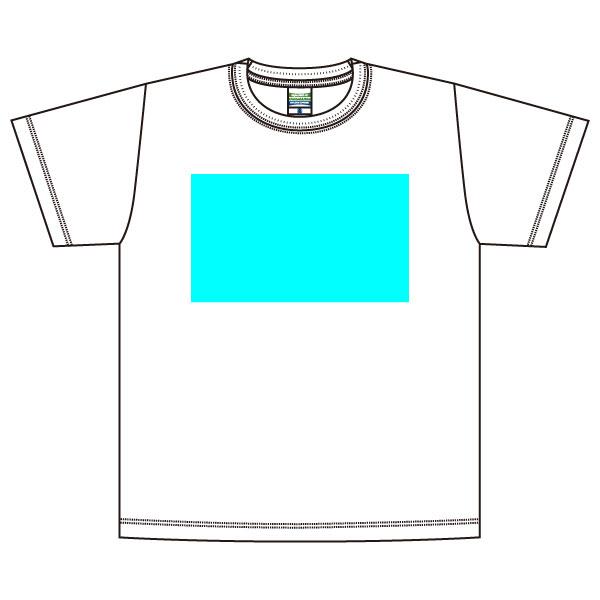 オリジナルプリントかんたんデザイン半袖Tシャツホワイト