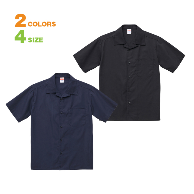 【ロッカーループ付、ポケットにはペン差しと、細部までこだわったヴィンテージライクな縫製仕様です。】T/Cオープンカラーシャツ-175901