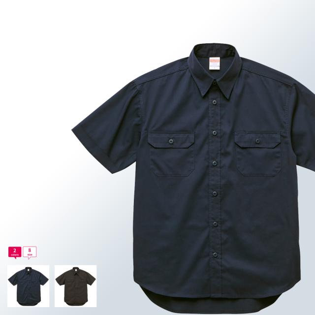 【ワークシャツ 無地 2本針のチェーンステッチ、ペン差し付きフラップポケットなどシンプルかつクラシカルな縫製仕様がポイント 作業着 】T/Cワークシャツ-177201