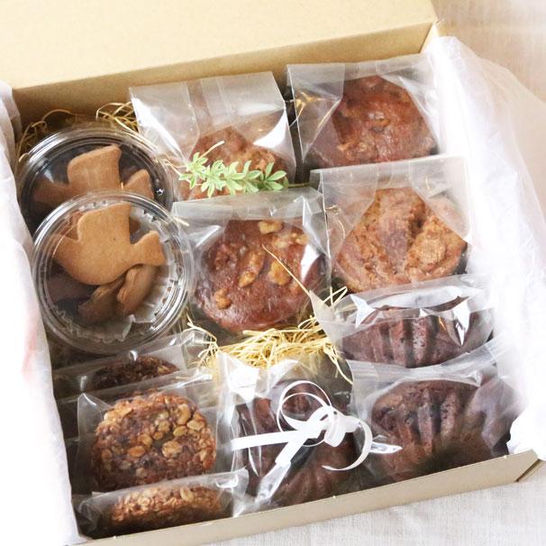 【 体にやさしい焼き菓子(ヘルシースイーツ)の詰合せ 大BOX 】※SOKOの皮まで食べられるレモン使用。非加熱、無農薬ロンガンはちみつ使用。 次回お届け日:11月24日(土)地域によっては25日のお届けとなります。