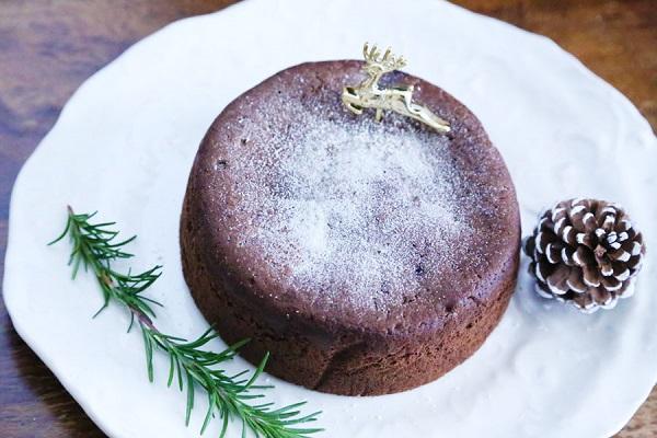 【 グルテンフリー クリスマスケーキ 】 【 レモンガナッシュ入りガトーショコラ 5号15センチ 】 ※添加物不使用 グルテンフリー パティシエ手作り