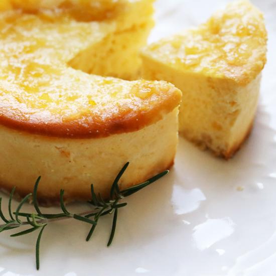 【レモンチーズケーキ4号 直径12センチ】 ※添加物不使用 SOKOレモンコンフィチュール使用 パティシエ手作り