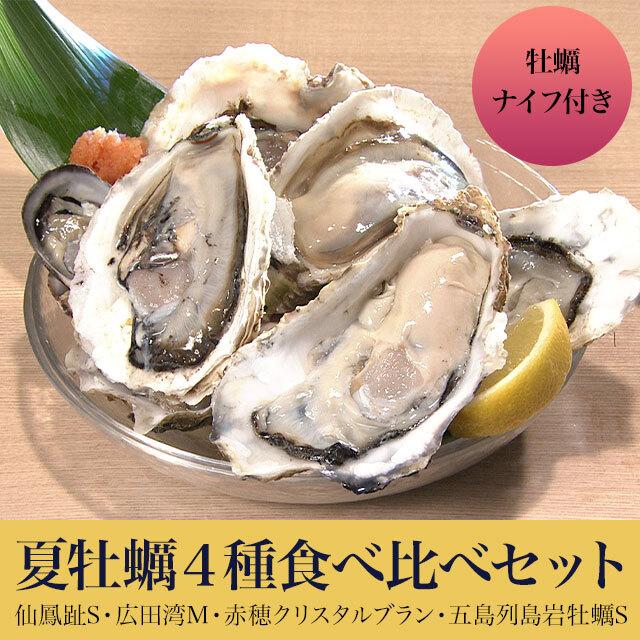絶対お得牡蠣 食べ比べ4種類12個セット(牡蠣ナイフおまけつき在庫あるまで)
