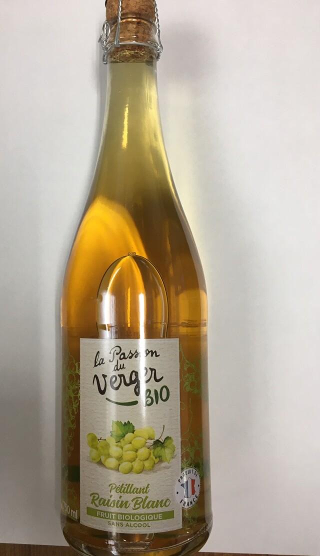 【有機】オーガニック スパークリング ホワイトグレープジュース(炭酸入り) 1本=750ml  *フランス産