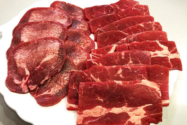 焼肉セット 牛リブロース&牛タン:計300g オーストラリア産牛リブロース焼肉用200g+アイルランド産牛タンスライス焼肉用100g(真空パック冷凍)
