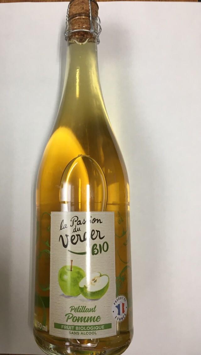 【有機】オーガニック スパークリングアップルジュース(炭酸入り) 1本=750ml  *フランス産