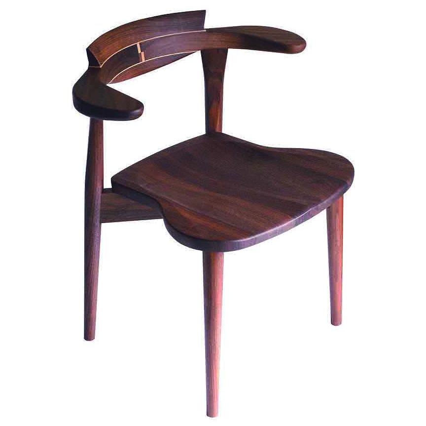 腰の椅子 Awaza2板座 スタッキングチェア ウォールナット 板座面 025W